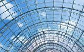 transparent glass roof interior