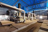 brick production line in factory