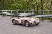 Old Racing Car Jaguar C-type