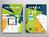 Abstract Triangle Geometric Vector Brochure Template. Flyer Layout. Flat Style. Infographic Elements