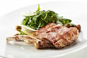 Pork Chop with Fresh Salad