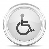 wheelchair internet icon