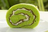 Roll Pandan Flavored Cake