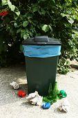 Recycling bin outdoors