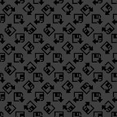 floppy disk download web icon. flat design. Seamless gray pattern.