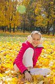Child On Leaves
