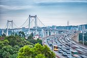 Xiamen Haicang Bridge At Dusk With Hdr