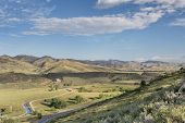 foto of horsetooth reservoir  - Charles Hansen canal below Horsetooth Reservoir - JPG