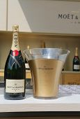 :Moet and Chandon champagne presented at the National Tennis Center during US Open 2014
