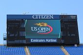 Arthur Ashe Stadium scoreboard at Billie Jean King National Tennis Center