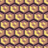 3d seamless abstract with hexagonal elements. Vector illustration.