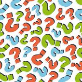 Questions. Seamless pattern. Vector illustration. Can be used for wallpaper, web page background, we
