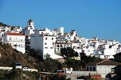 White town, Canillas de Aceituno, spain.