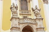 Front Part Of The St. George's Cathedral, A Baroque-rococo Cathedral In The City Of Lviv, Ukraine
