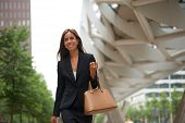 Business Woman Smiling And Walking