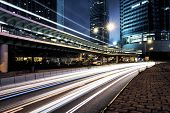 picture of hong kong bridge  - traffic in Hong Kong at night of city - JPG