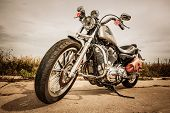 RUSSIA-JULY 7, 2013: Harley-Davidson Sportster 883 Low. Harley-Davidson sustains a large brand commu