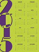 Simple Portrait Calendar For 2015