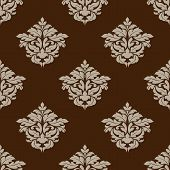 Retro ochre seamless pattern