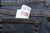 Hundred And Twenty Euro In Jeans Pocket American