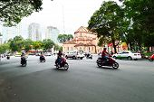 Road Traffic In Saigon, Vietnam