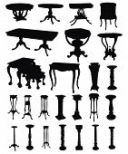 Antique Tables Silhouettes