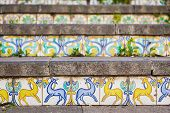 Decoration Of Staircase At Caltagirone