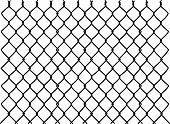 picture of chain link fence  - raster silhouette graphic depicting a chain link fence - JPG