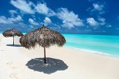 Beautiful tropical beach and Caribbean sea