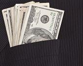 Dollars In Suit Pocket