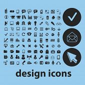 web design isolated icons, signs, illustrations, silhouettes, vectors set