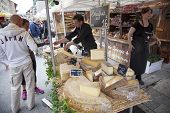 Cheese On A French Market In Haute Savoie