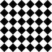 Seamless Monochrome Checkered Pattern
