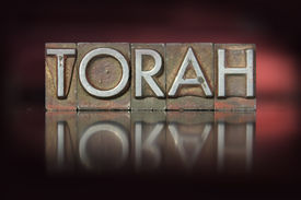 stock photo of torah  - The word Torah written in vintage letterpress type - JPG