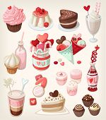 Colorful Valentine Food