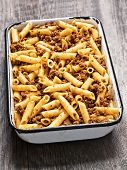 Tray Of Rustic Bolognese Pasta
