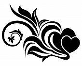 Valentine day floral design element