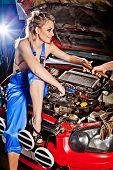 Man Gives Girl A Tool To Repair A Car