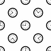 time, vector seamless pattern