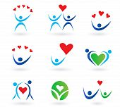 Love, relationship and community icons