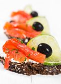 Sandwiches With Salmon
