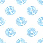 simple vector background of blue spirals. seamless