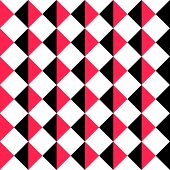 Seamless Square Pattern. Abstract Black and Red Background. Vector Regular Texture