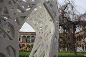 University Of Milan Courtyard During The Milan Design Week