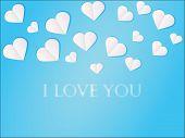 Vector Valentine Card Background , blue