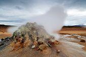 stock photo of volcanic  - Hverar - JPG