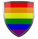 picture of gay pride  - Gay pride isolated design element isolated on white - JPG