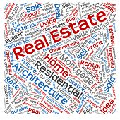 Concept or conceptual abstract home, real estate or housing word cloud or wordcloud isolated on white background