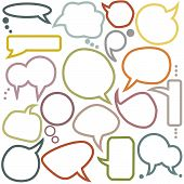 Set Of Various  Speech Bubbles