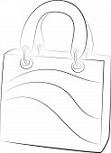 Simple Handbags. Vector Illustration On White Background. Contour